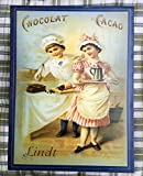 Antikas - Wanddeko Bistro + Küche, Blechtafel Retro Bild -Küchenbild, Nostalgie Schokolade