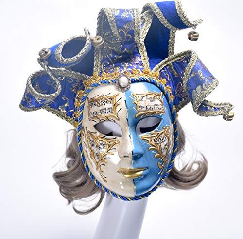 Volto Harz Musik Venedig Clown Maske/Halloween-Maske/Maskerade/Wanddekoration/Kunstsammlung (Halloween Musik Clown)