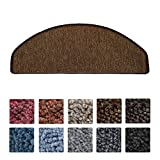 Beautissu® Tappeti scale ProStair - passatoie gradini - 65x28cm set da 15 -retro adesivo perfetta angolatura-marroncino