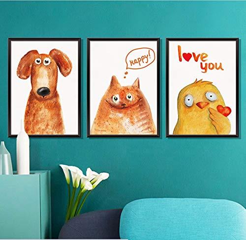 Xzfddn Neue Foto Gerahmte 3D Baum Welpen Hunde Wandaufkleber Pvc Hintergrund Decor Dekoration Kinderzimmer Aufkleber Wandkunst Tapete Poster