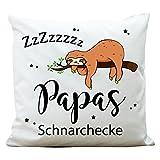 """Wandtattoo-Loft Bedrucktes Kissen """"Papas Schnarchecke"""" mit niedlichem..."""