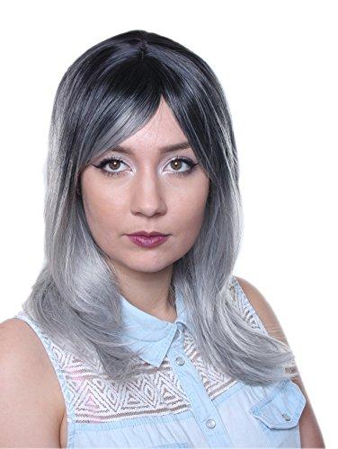 prettyland-c620-ombre-parrucca-50cm-lunghi-parrucca-gradiente-party-nero-grigio-argento