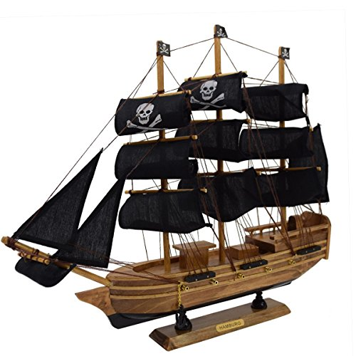 "Sonia Originelli Segelschiff ""M"" Modellschiff Dekoration Schiff Maritim Farbe Pirat"