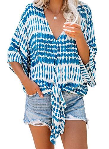 Bobopai Women Summer Vest Sleeveless V Neck Boho Floral Tank Tops Size 6-24 - Floral V-neck Tank