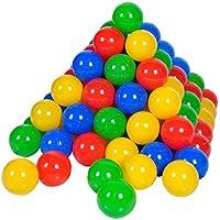Knorrtoys 56789 - 100 Bälle in knalligem Blau, Rot, Gelb und Grün ohne gefährliche Weichmacher Ø6 cm - TÜV zertifiziert - preisvergleich bei kleinkindspielzeugpreise.eu