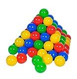 Knorrtoys 56789 - 100 Bälle in knalligem Blau, Rot, Gelb und Grün ohne...