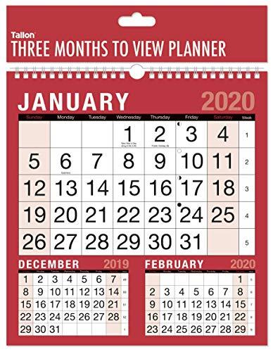 Visualizza Calendario.2018 Tre Mesi Per Visualizzare Il Calendario Di Planner Muro A Spirale Lavoro A Casa