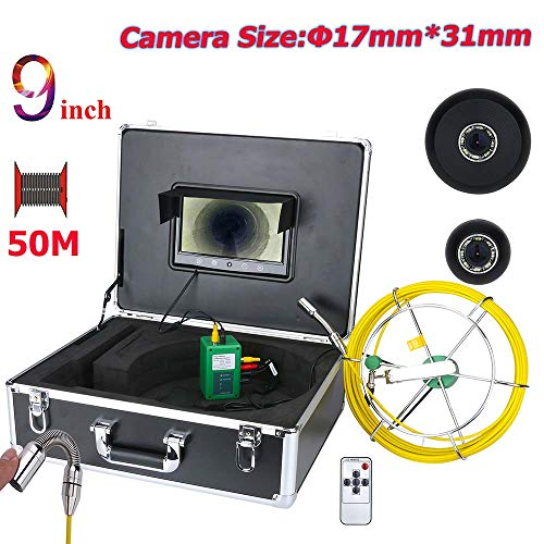 LGFB 9-Zoll-LCD-Bildschirm Endoskopische Kamera Tube Kamera Drainage Inspektion Kamerawinkel 145 Grad 1000TVL Leitungslänge 50m - Drainage Tube