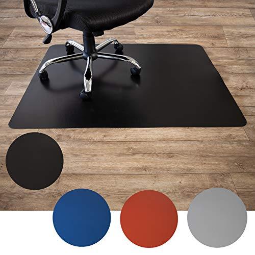 Floordirekt Bodenschutzmatte für Hartböden   aus Polypropylen  Buerostuhlunterlage   Stuhlunterlage   Schutzmatte   Hartboden   BUNT   3 Größen (120 x 150 cm, Schwarz)