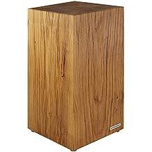 NATUREHOME Tronco de árbol Taburete madera maciza Natural engrasada Roble Mesa auxiliar
