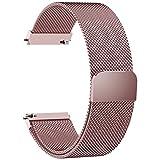 Fullmosa 6 Farben Für Milanese Uhrenarmband, Milanese Smart Watch Armand Ersatzband mit Edelstahl Magnet-Verschluss Watch Replacement für 20mm Rosa