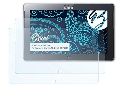 Bruni Samsung Ativ Tab (10.1 Inch GT-P8510) Folie - 2 x glasklare Displayschutzfolie Schutzfolie für Samsung Ativ Tab (10.1 Inch GT-P8510)
