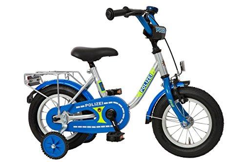 Bachtenkirch Kinderfahrrad 12,5'' Polizei Silber-blau - Fahrrad-polizei