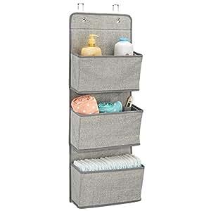mdesign h ngeaufbewahrung mit 3 taschen kinderzimmer aufbewahrung f r stofftiere. Black Bedroom Furniture Sets. Home Design Ideas