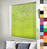 Aluminium Jalousie nach Maß, Wertarbeit, alle Größen und 28 Farben verfügbar, Maßanfertigung, für Fenster und Türen, Alu Jalousien, Decken und Wandmontage (Light Green, Höhe: 130cm x Breite: 140cm)