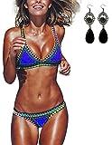 Sitengle Damen Bikini-Sets Handgestrickte Badeanzüge Crochet Neopren Bademode Push up Neon Neopren Farbe Spleiß Bikinis Sport Strandmode Badeanzüge Schwimmanzug Marine Bathing Suit 2016 Neu