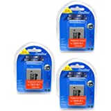 MaximalPower Batterie de rechange pour Canon NB - 7L et Powershot G12/SX30 IS/SX30IS G10/G11/appareil photo (Lot de 3)