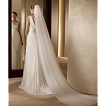Yu* Velo de la boda Novia Headpieces Accesorios Capilla Velos Catedral Velos / Largo arrastrar / borde liso , white , three layers