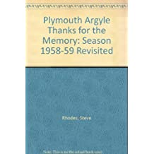 Plymouth Argyle Thanks for the Memory: Season 1958-59 Revisited