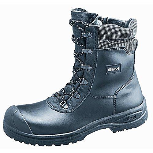 Sievi Solid XL + Sicherheit Stiefel warm Fleece Futter S3Seite Zip Herren Fell gefüttert Sicherheit Stiefel Stahlkappe ESD 52271–353, schwarz - schwarz - Größe: 38 (Patent-symbol)