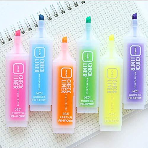 Queta 6 Stück Textmarker, Schulbedarf, koreanisch, stilvoll, süßer Mini-Textmarker Marker Stifte...