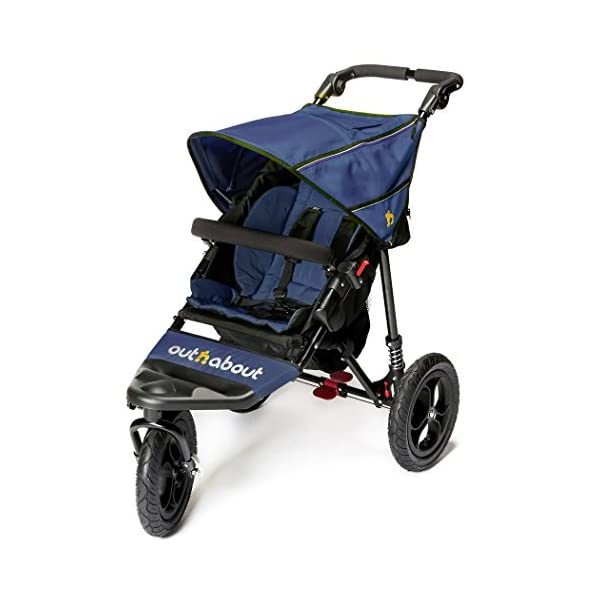 Out n About Nipper Single v4 Stroller  suitable from birth to approx 4 years new auto lock clips together when stroller is folded lockable 360 degree swivel front wheel 1