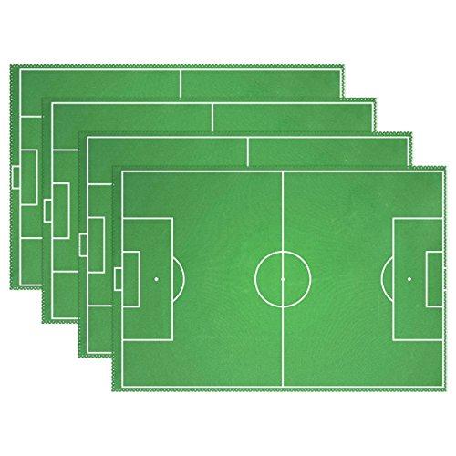 MUMIMI Manteles individuales campo fútbol resistentes