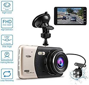 Car Camera 4 0 Inch Dash Camera Car Tvird Dashcam Fhd 1080p Dash Camera Recorder With 170 Wide Angle 6g Lens Parking Monitor Motion Detection Loop Recording G Sensor Dash Cam Ultra Thin