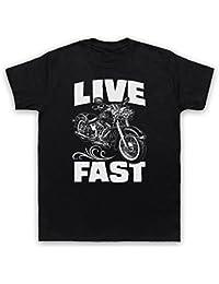 Live Fast Motorbike Herren T-Shirt