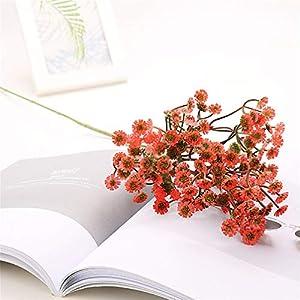 AVXZK 10 Daisy Simulation Gypsophila Braut Holding Blumen Platzierung Atmosphäre Liefert Kunststoff Gefälschte Blume Großhandel Rot