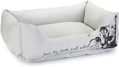 Beeztees 704965 Textil Bett Settle, 50 x 42 x 20 cm, grau