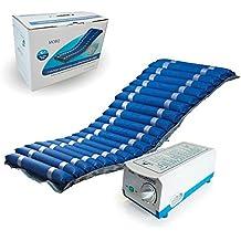 Colchón antiescaras con alternancia de celdas y compresor regulable | Color azul | Soporta hasta 140