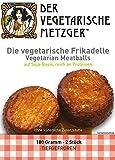 Vegetarische Frikadelle (6 x 180g - 12 Stk.) Soja Fleischersatz mit 16,9% Protein - Low Carb -