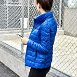CHZDSB Piumino Women Winter Coat Ultra Light White Down Jacket Slim Women Winter Jacket Portable Windproof Down Coat S-6Xl L Royal Blue