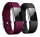 Hanlesi Fitbit charge 2 Cinturino Morbido Sportivo di Ricambio in TPE, Accessori per Orologio alla moda per Fitbit Charge 2 ¡