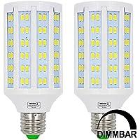 MENGS® 2unidades regulable E27Bombilla LED 20W blanco frío 6500K AC 85–265V 144x 5730SMD