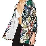MOSE S.E New Cardigan Bedruckt Bluse für Frauen, Frauen Floral Chiffon Kimono Oversized mit Fransen Schals Wraps (Multicolor, S)