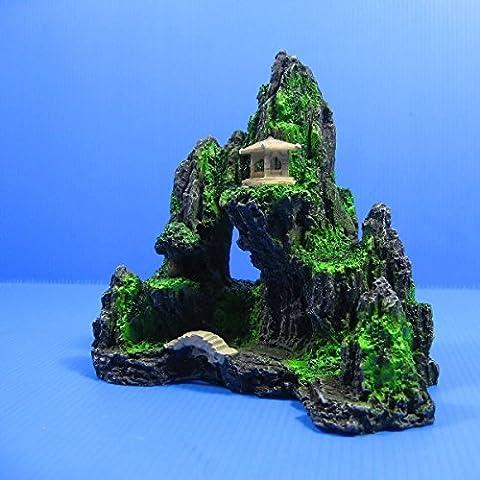 Fish Tank Decor Mountain View Aquarium Ornament tree - Rock Cave Bridge by Aquarium Equip