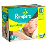 Pampers Swaddlers Diapers Size 1 Giant P...