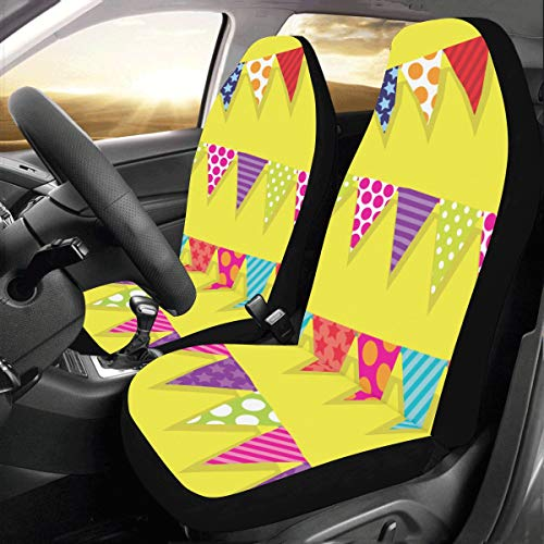 Pleasant Interestprint Colorful Tiger Car Seat Covers Set Of 2 Caraccident5 Cool Chair Designs And Ideas Caraccident5Info