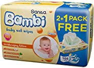 Sanita Bambi Moisturizing Lotion, Promo Pack, 168 Wet Wipes