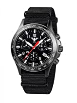 KHS Tactical Watches Black Platoon Chronograph C1 KHS.BPCC1.NB Edelstahl IPB