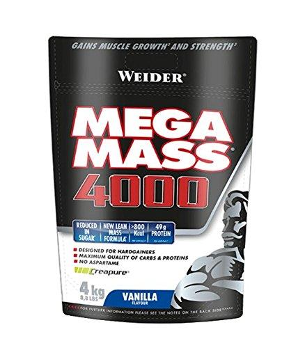 Weider Mega Mass Vainilla Bag - 4000 gr