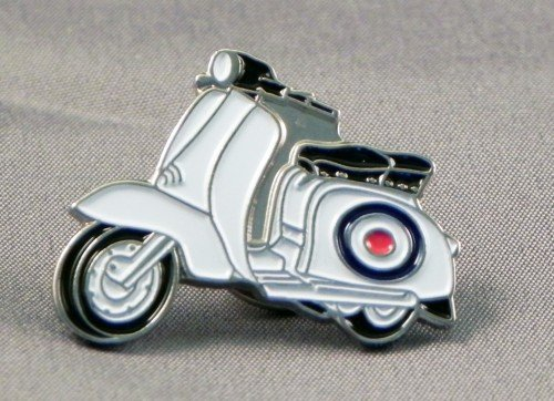 Mainly Metal - Spilletta in metallo smaltato, motivo: lambretta con simbolo della Royal Air (Piccolo Cappello Pin)