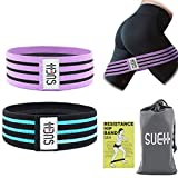 SueH Design Anti-Rutsch-Fitnessband für Beine und Po   Widerstandsband aus Textilmaterial I Ideal...