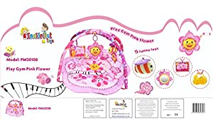 Baby Playmat, Play Gym, Musical Activity Gym stunning Pink Flower Design