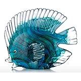 Tooarts - Escultura de decoración, diseño de peces tropicales, multicolor