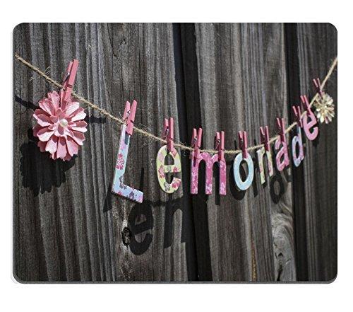 MSD-Tappetino per mouse in gomma naturale, gioco foto ID: 28481361 la parola Lemonade appendere a un filo da recinzione - Pad Lemonade