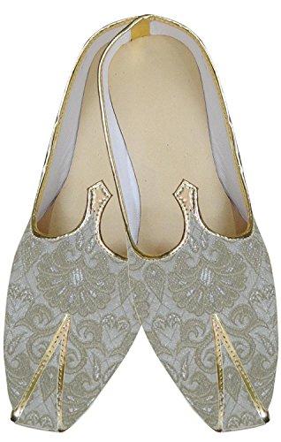 inmonarch Herren perfekte Look creme mojari indischen Hochzeit Schuhe mj140 Cremefarben