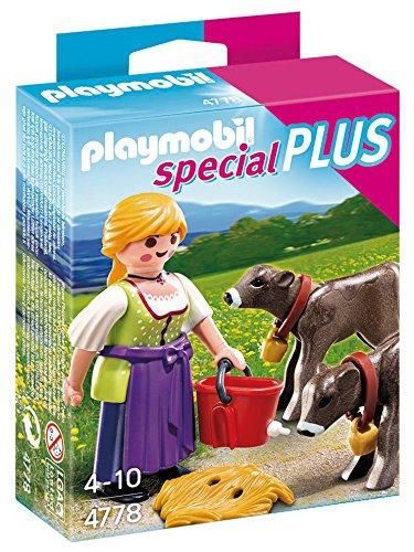Playmobil Especiales Plus - Granjera con terneros, playset (4778)